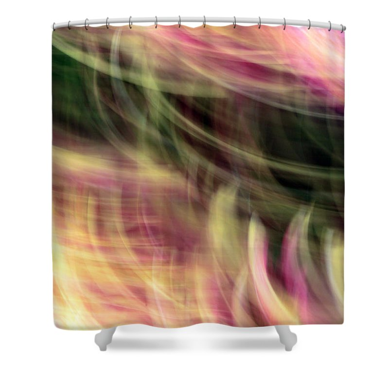 Lines Shower Curtain featuring the photograph The Separation by Munir Alawi