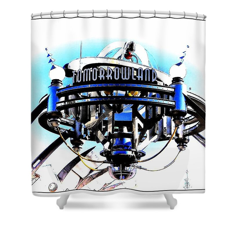 Tomorrowland Shower Curtain featuring the photograph Tomorrowland by Joyce Baldassarre