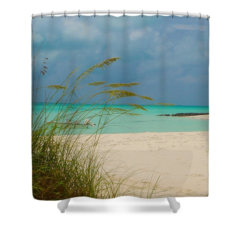 Treasure Cay Shower Curtain featuring the photograph Treasure Cay by Carey Chen
