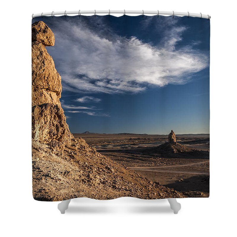 California Shower Curtain featuring the photograph Trona Pinnacles by Cat Connor