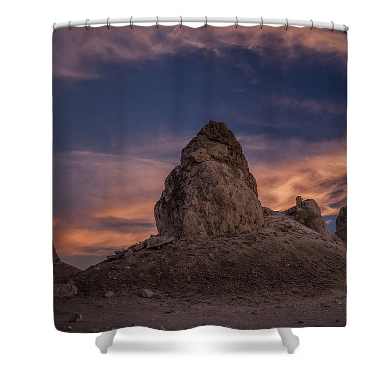 California Shower Curtain featuring the photograph Trona Pinnacles Sunset by Cat Connor