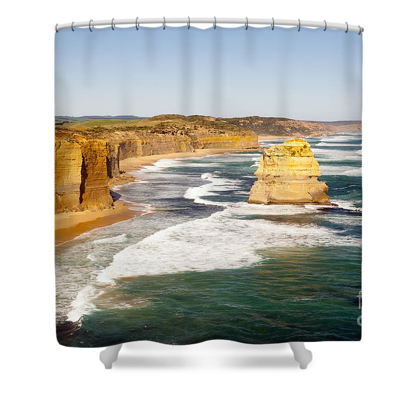 Australia Shower Curtain featuring the photograph Twelve Apostles by Tim Hester