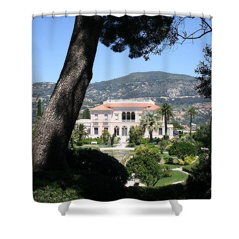 Villa Shower Curtain featuring the photograph Villa Ephrussi de Rothschild by Christiane Schulze Art And Photography