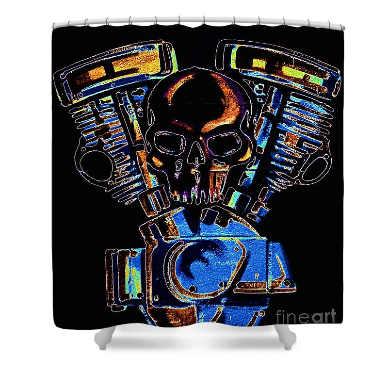 Newel Hunter Shower Curtain featuring the photograph Vroomvroom by Newel Hunter