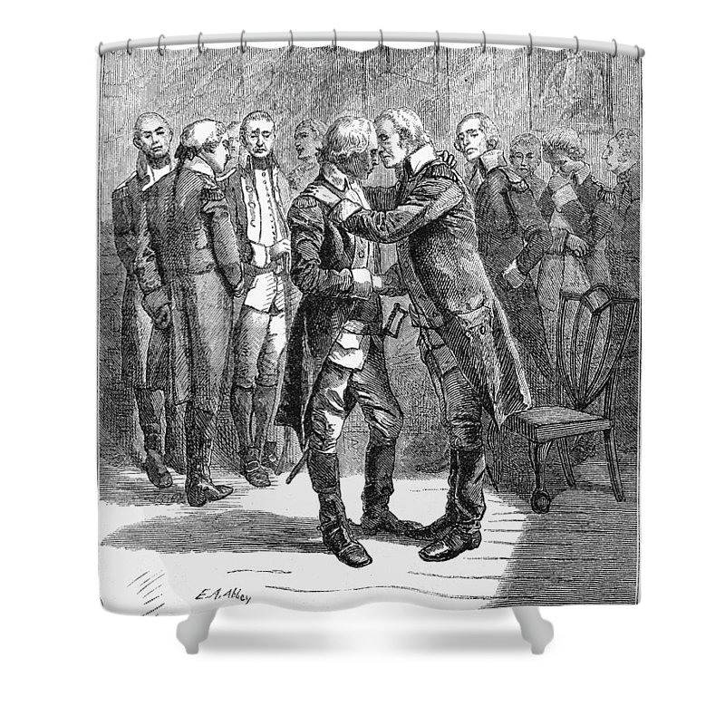 1783 Shower Curtain featuring the photograph Washingtons Farewell by Granger
