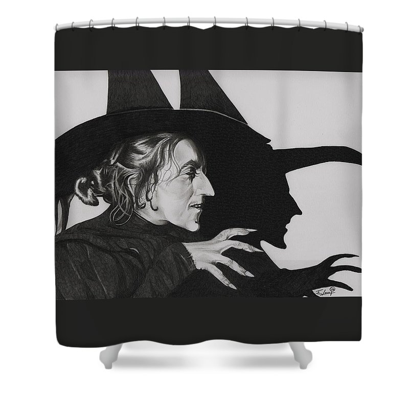 The Wizard Of Oz Shower Curtain Featuring Drawing Wicked Witch West By Fred