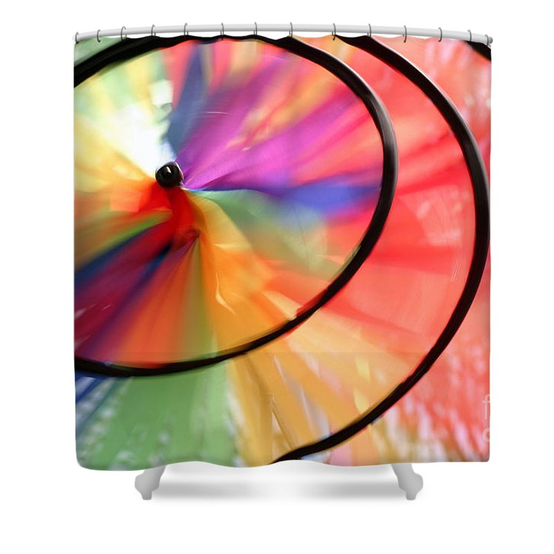 Blowing Shower Curtain featuring the photograph Wind Wheel by Henrik Lehnerer