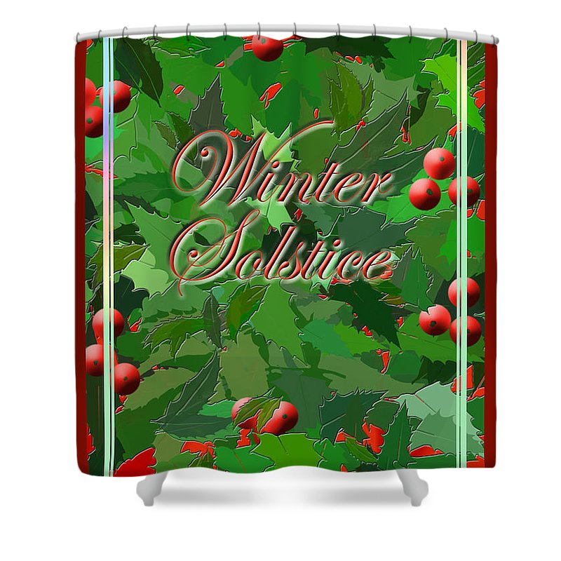 Wicca Shower Curtain featuring the digital art Winter Solstice by Melissa A Benson