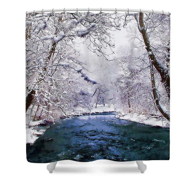 Christmas Shower Curtain featuring the photograph Winter White by Jessica Jenney