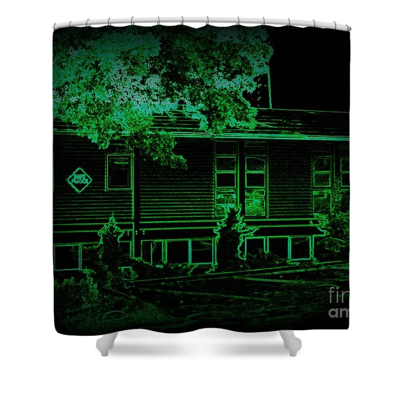 Shower Curtain featuring the photograph Youth In Need Safe Place by Kelly Awad