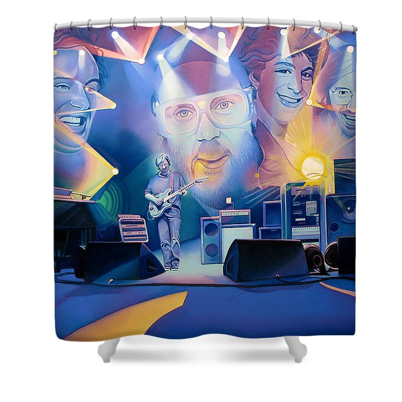 Phish Shower Curtain featuring the drawing Phish-20 Years Later by Joshua Morton