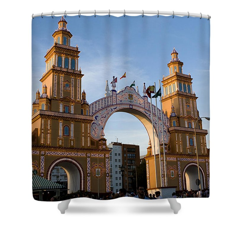 Seville Shower Curtain featuring the photograph 2013 Gateway To Feria De La Seville by Lorraine Devon Wilke