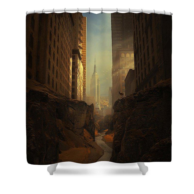 American Landmarks Shower Curtains