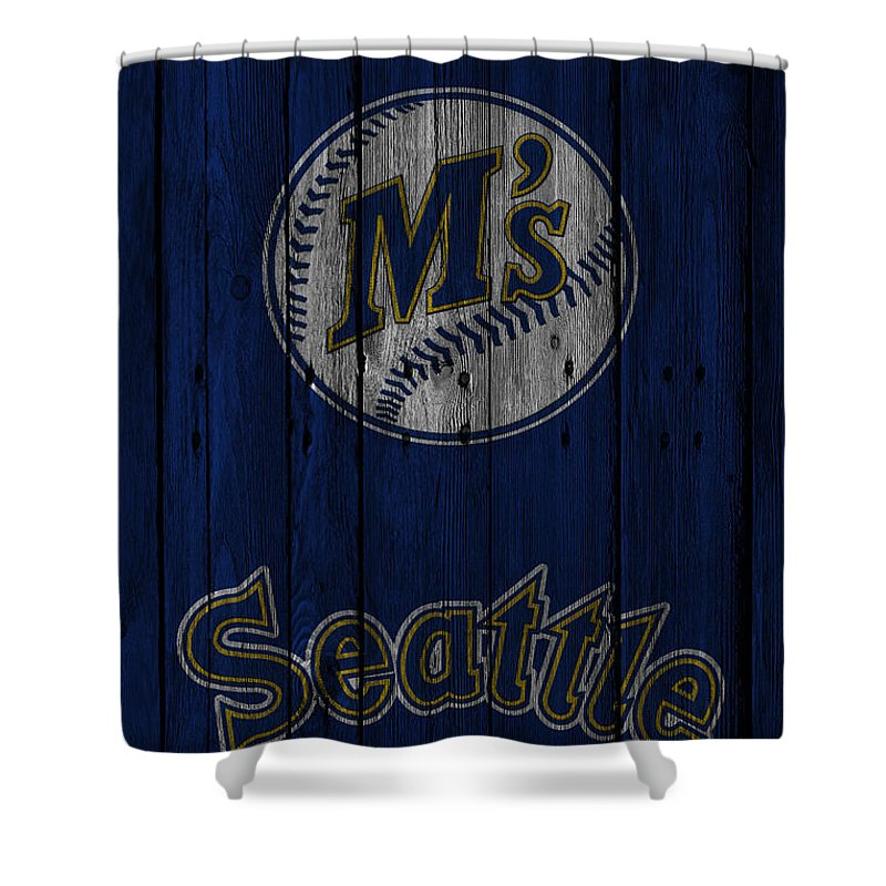 Mariners Shower Curtain Featuring The Photograph Seattle By Joe Hamilton
