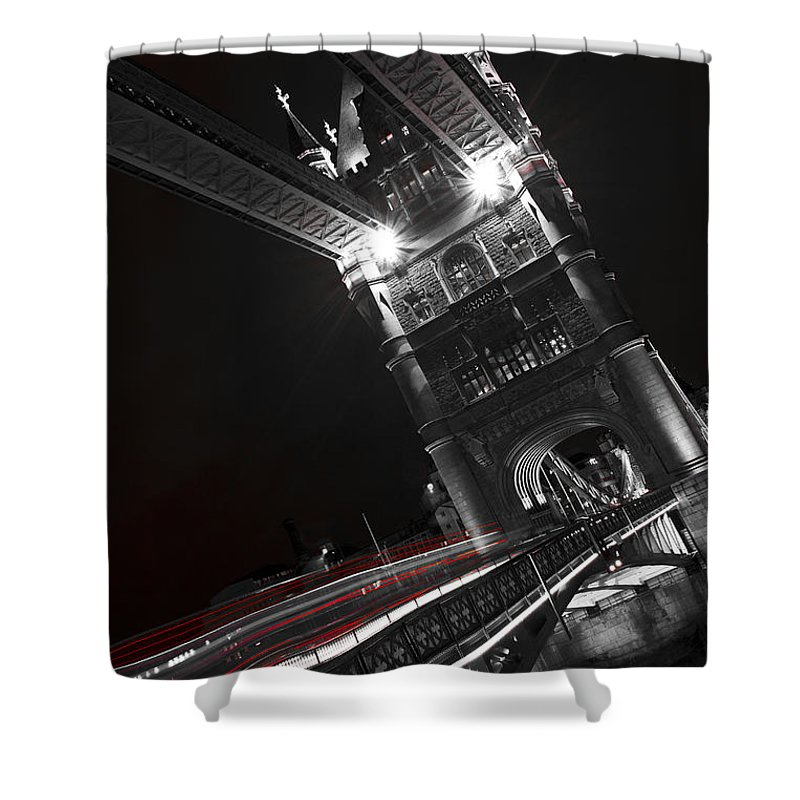 Tower Bridge Shower Curtain featuring the photograph Tower Bridge London by David Pyatt