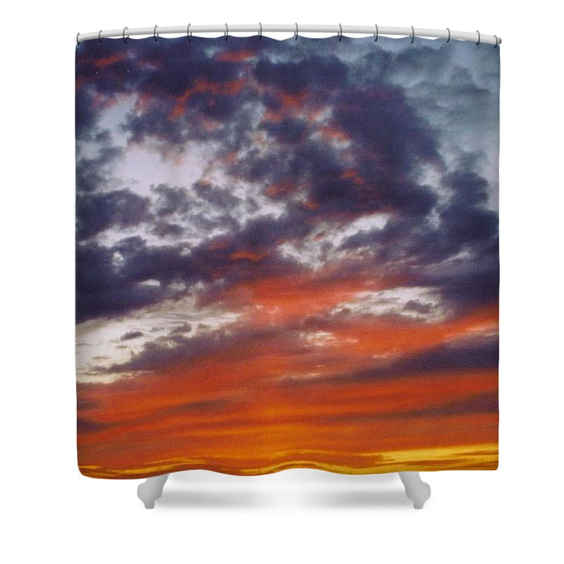 Gold Shower Curtain featuring the photograph Sky Scape by Robert Floyd
