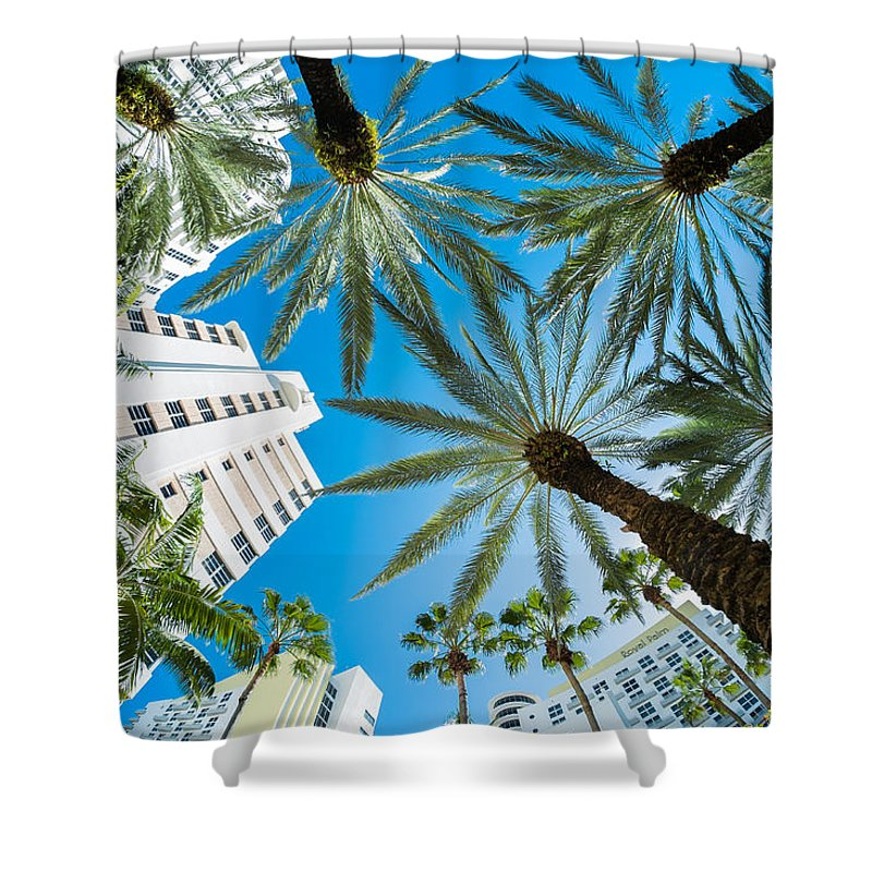 Architecture Shower Curtain featuring the photograph Miami Beach by Raul Rodriguez