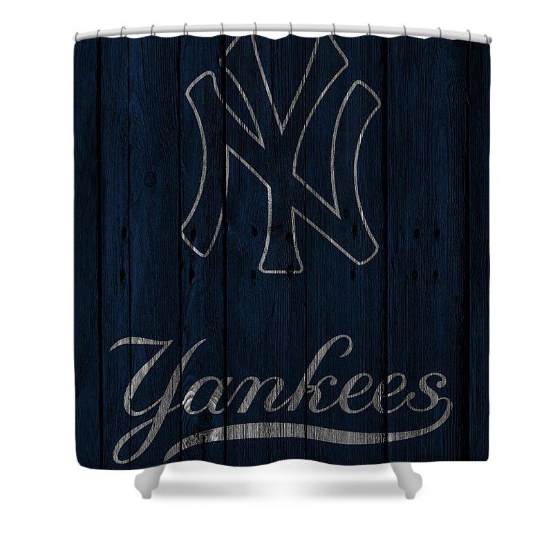 Yankees Shower Curtain featuring the photograph New York Yankees by Joe Hamilton