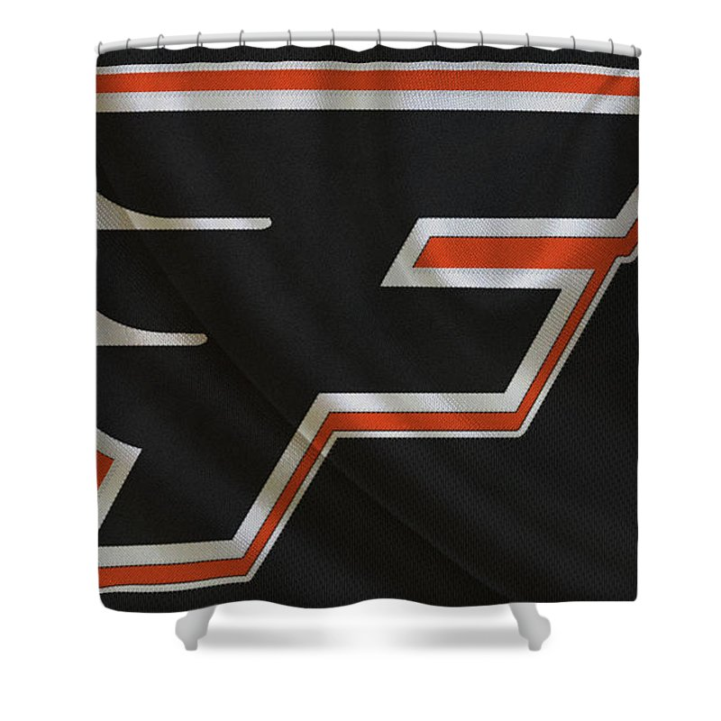 Flyers Shower Curtain featuring the photograph Philadelphia Flyers by Joe Hamilton