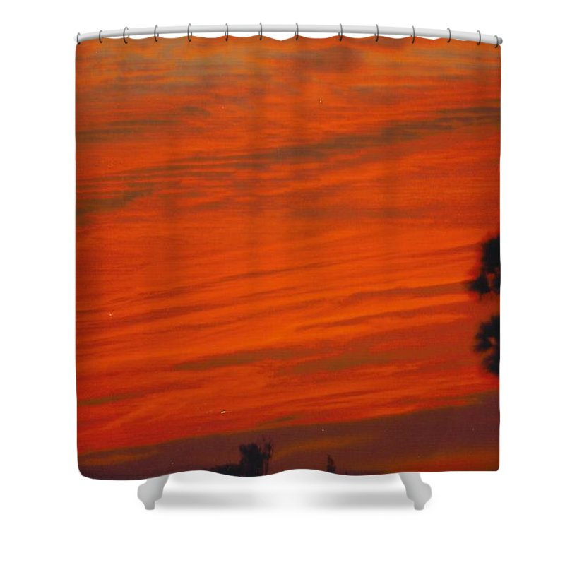 Brilliantly Red Skies Shower Curtain featuring the photograph Sky Scape by Robert Floyd