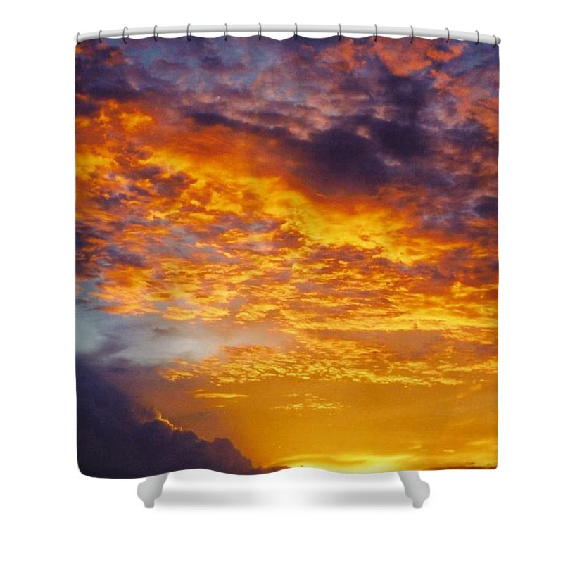 Golden Sunset Shower Curtain featuring the photograph Sky Scape by Robert Floyd
