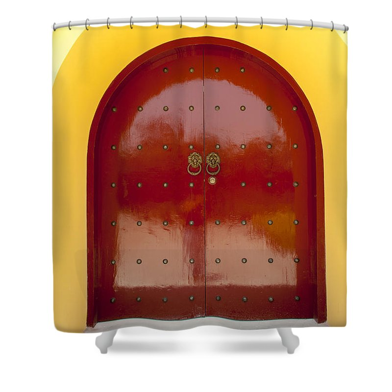Asia Shower Curtain featuring the photograph 2631-door by David Lange