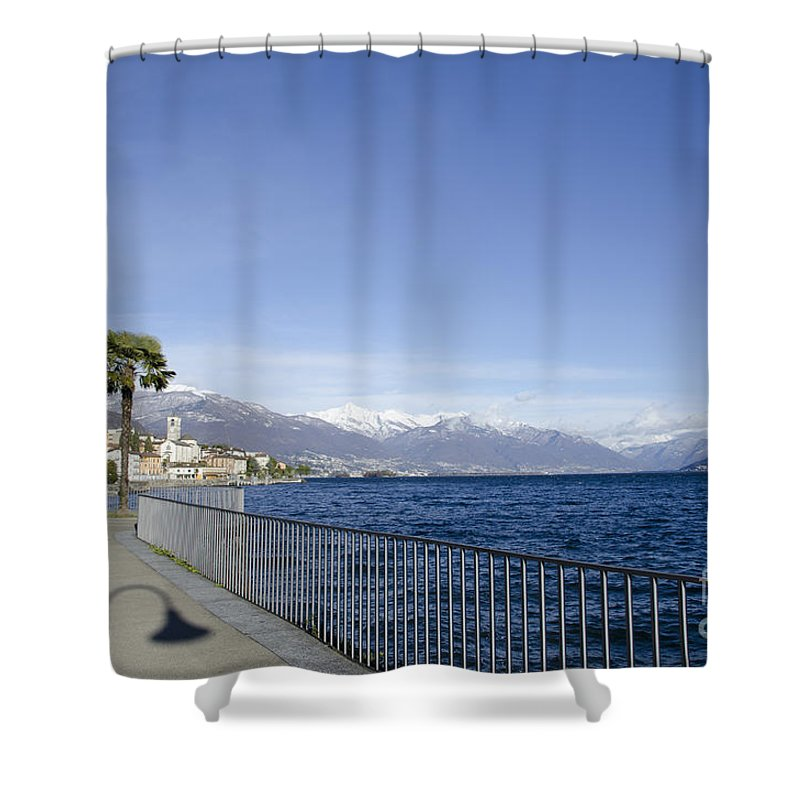 Village Shower Curtain featuring the photograph Alpine Lake by Mats Silvan