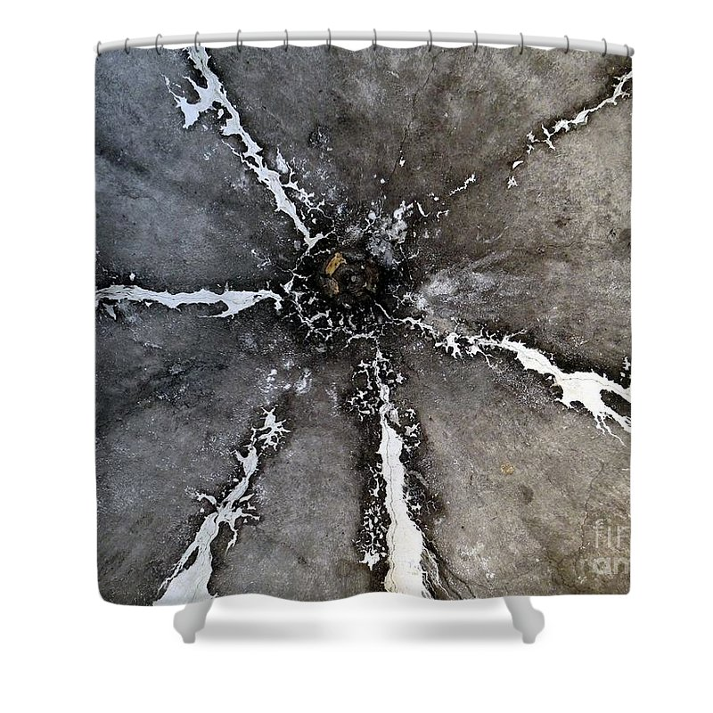 Mosaic Shower Curtain featuring the photograph Untitled by Ed Weidman