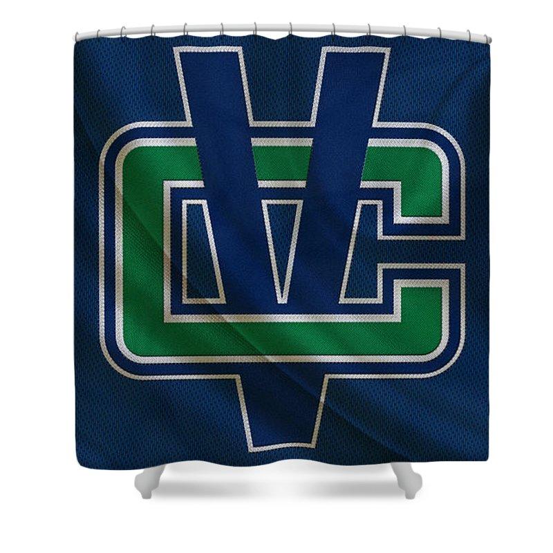 Canucks Shower Curtain featuring the photograph Vancouver Canucks by Joe Hamilton