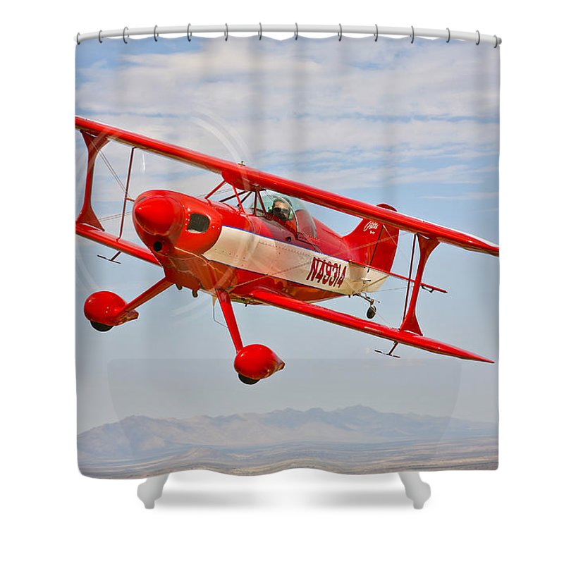Horizontal Shower Curtain featuring the photograph A Pitts Special S-2a Aerobatic Biplane by Scott Germain