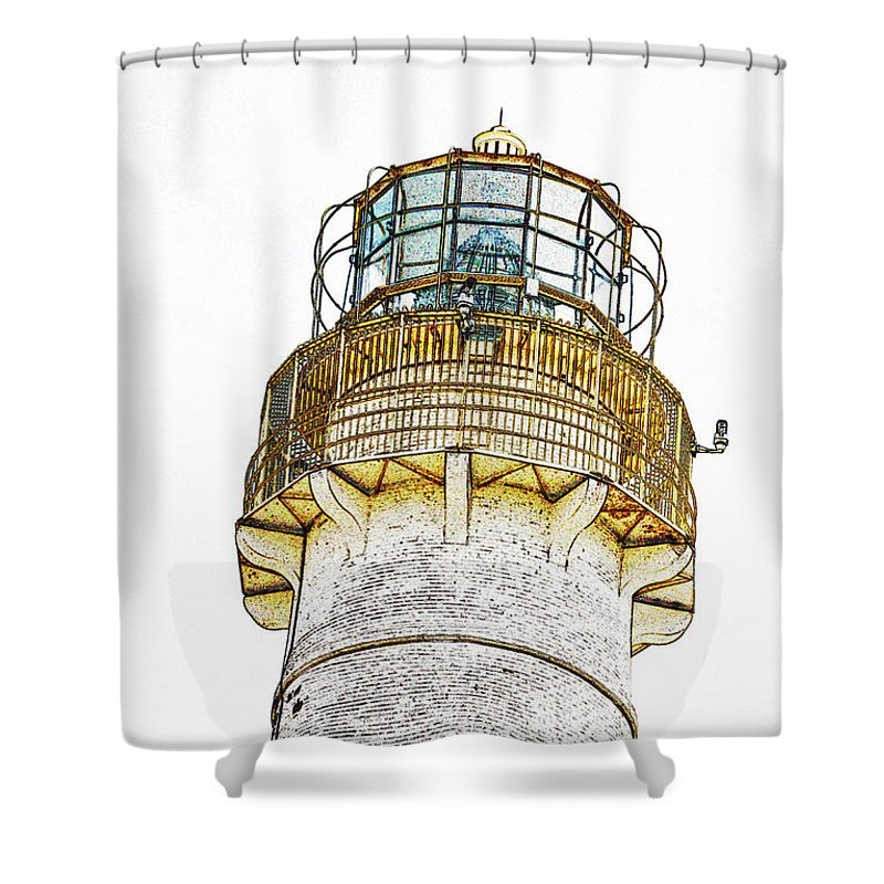 Lighthouses Shower Curtain featuring the photograph Absecon Lighthouse by Skip Willits