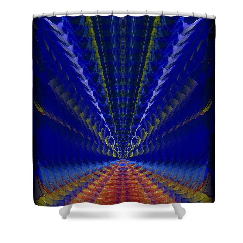 Original Shower Curtain featuring the painting Abstract 105 by J D Owen
