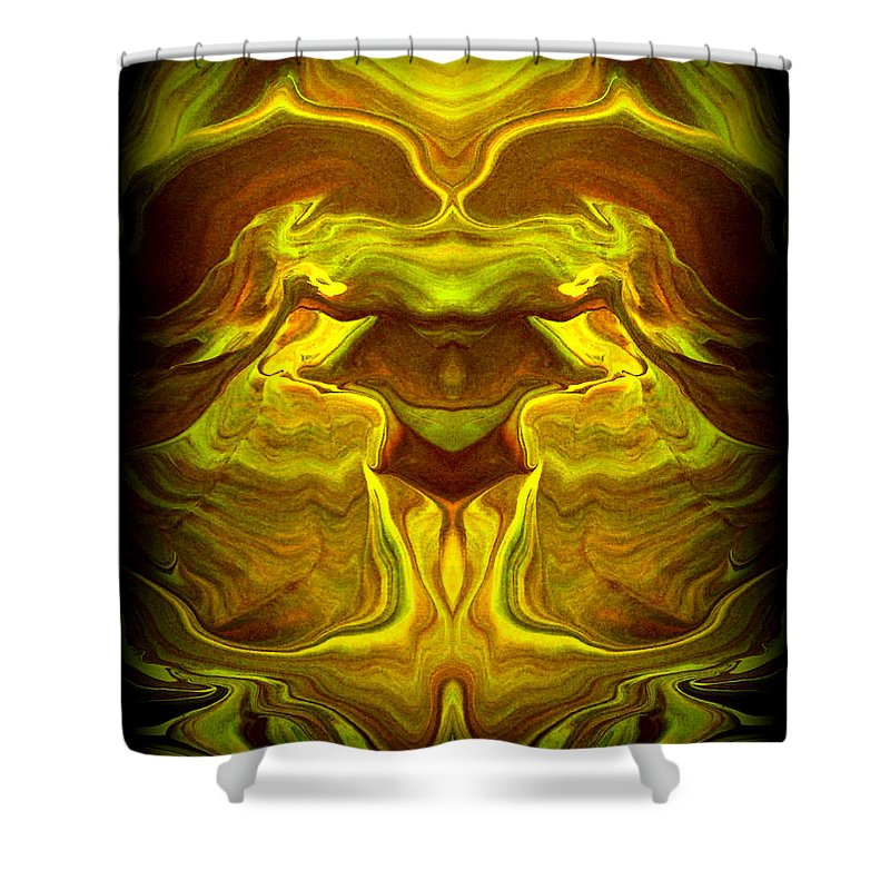 Original Shower Curtain featuring the painting Abstract 118 by J D Owen