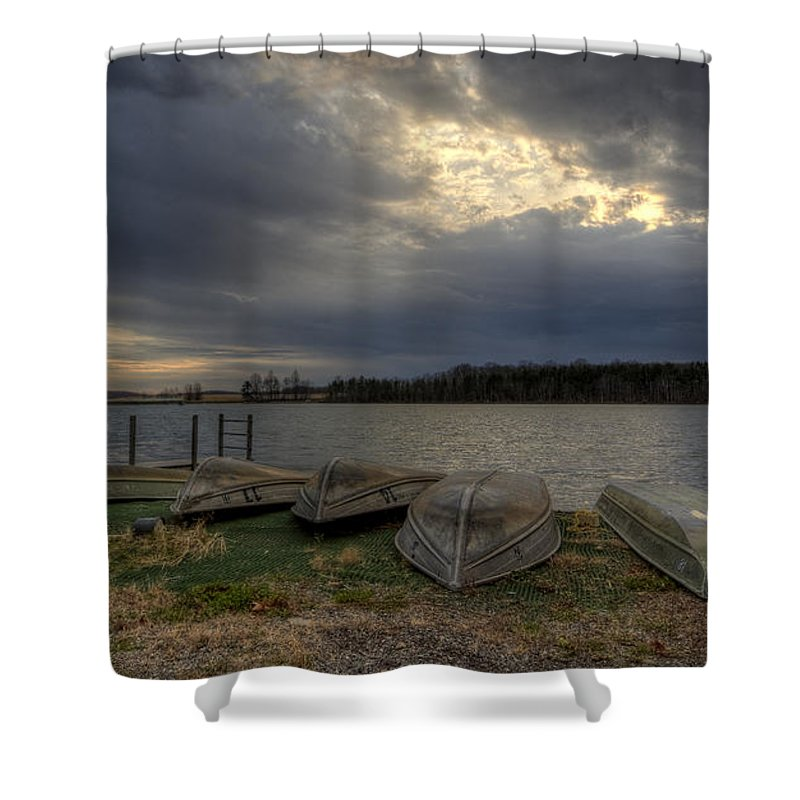 Boats Shower Curtain featuring the photograph Boat Rentals by David Dufresne