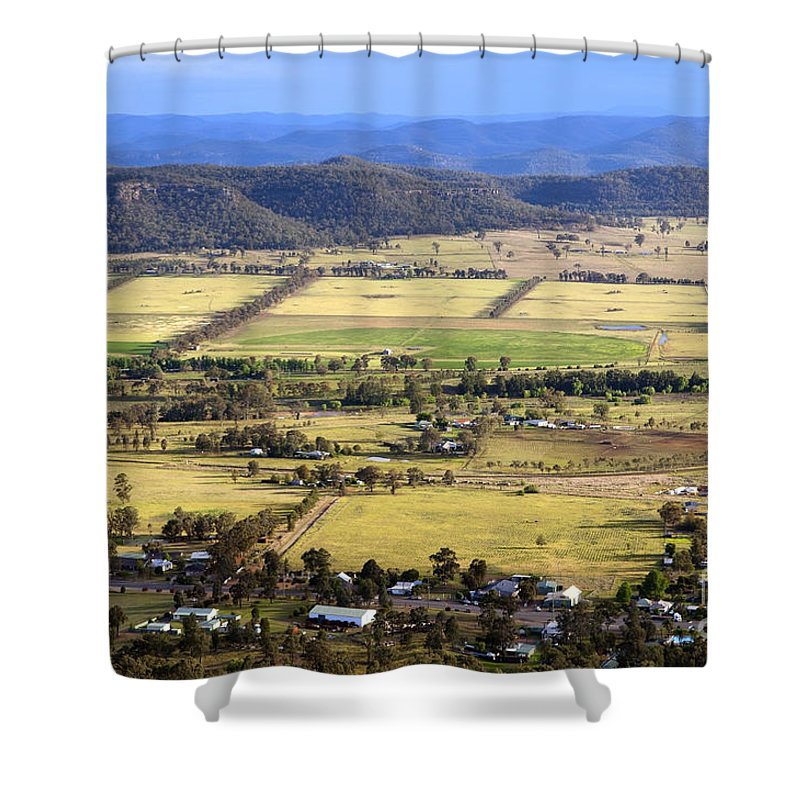Above Shower Curtain featuring the photograph Country Scenic by Tim Hester