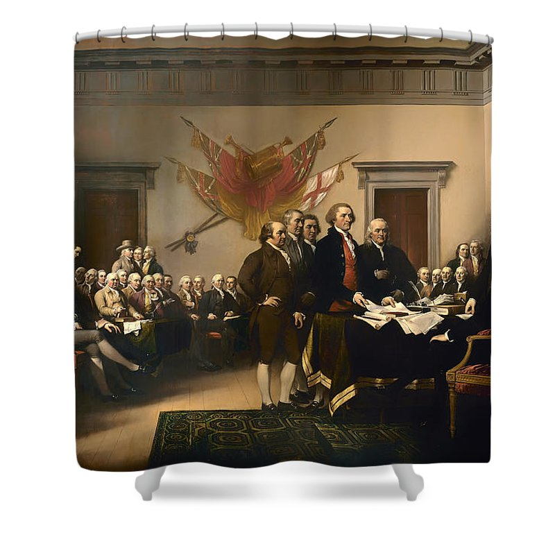 Painting Shower Curtain featuring the painting Declaration Of Independence by Mountain Dreams