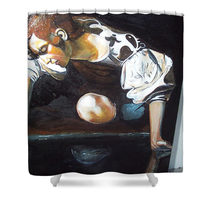 Shower Curtain featuring the painting Detail by Jude Darrien