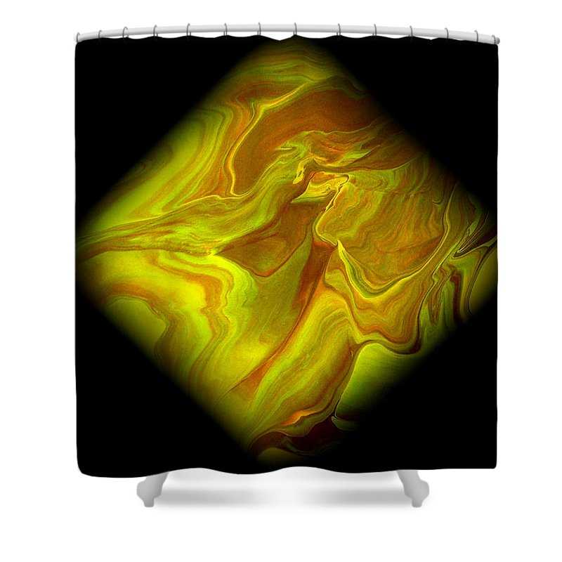 Symmetrical Shower Curtain featuring the painting Diamond 102 by J D Owen