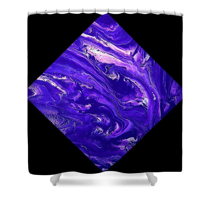 Diamond Shower Curtain featuring the painting Diamond 202 by J D Owen