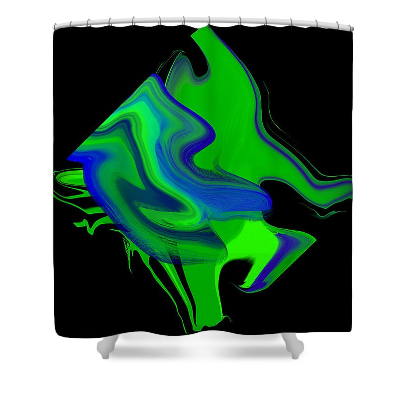 Original Shower Curtain featuring the painting Diamond 205 by J D Owen