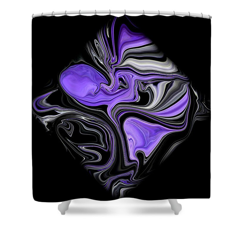 Original Shower Curtain featuring the painting Diamond 206 by J D Owen