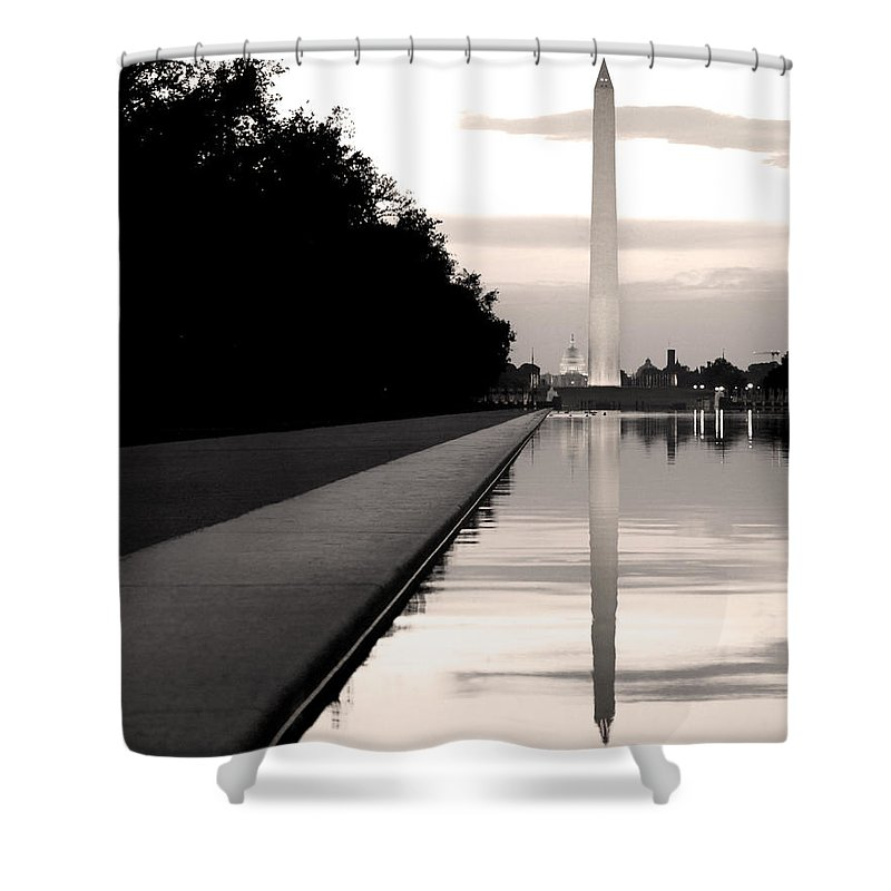 Reflecting Pool Shower Curtain featuring the photograph Dreams by Mitch Cat