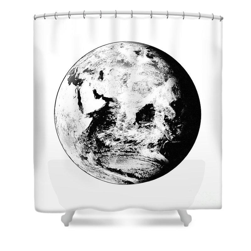 World Shower Curtain featuring the digital art Earth Globe by Henrik Lehnerer