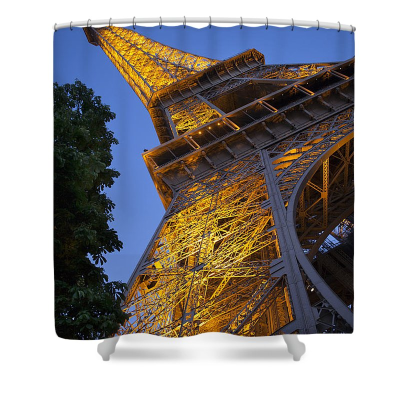 Architectural Shower Curtain featuring the photograph Eiffel Twilight by Brian Jannsen