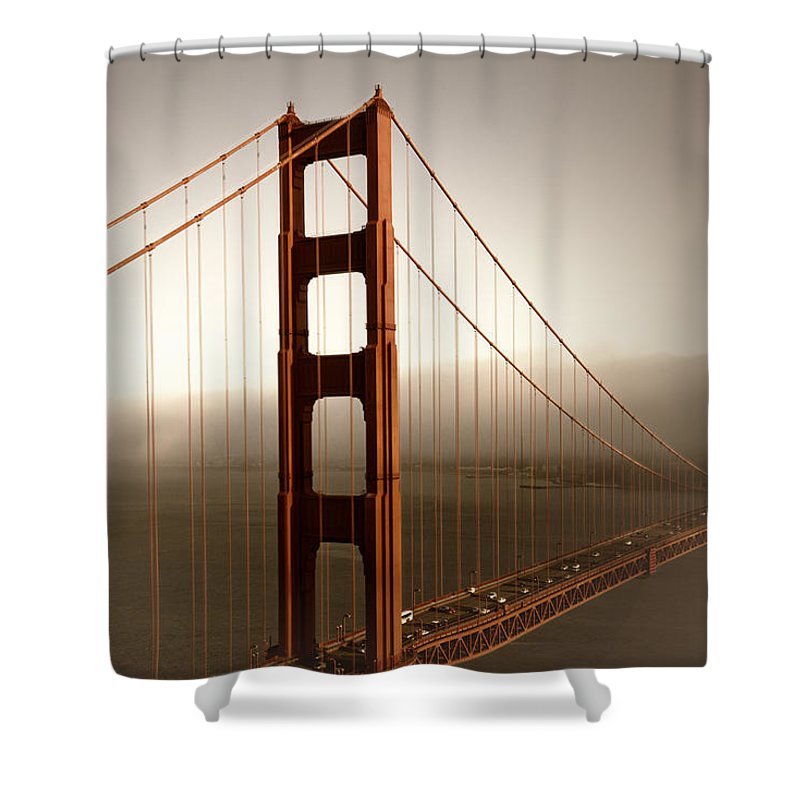 America Shower Curtain featuring the photograph Lovely Golden Gate Bridge by Melanie Viola
