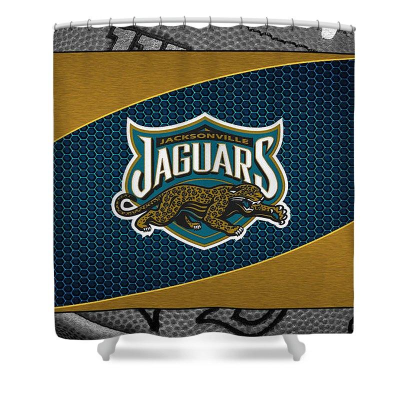 Jaguars Shower Curtain featuring the photograph Jacksonville Jaguars by Joe Hamilton