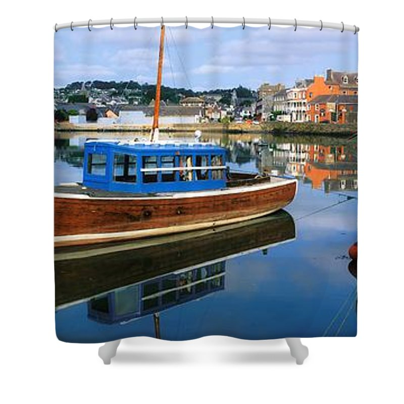 Boat Shower Curtain featuring the photograph Kinsale Co Cork Ireland by The Irish Image Collection