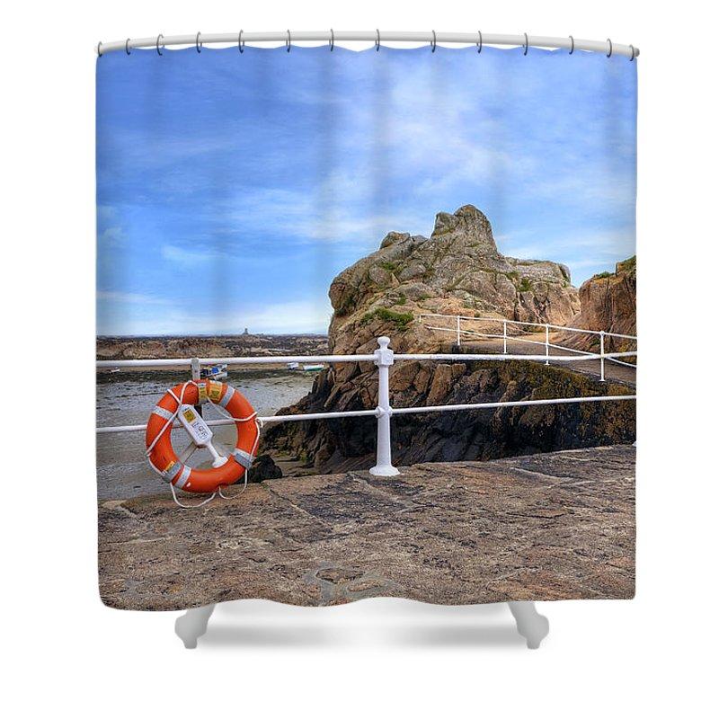La Rocque Shower Curtain featuring the photograph La Rocque - Jersey by Joana Kruse