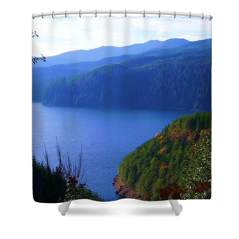 Bloom Shower Curtain featuring the photograph Lakes 6 by J D Owen