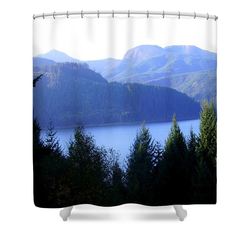 Bloom Shower Curtain featuring the photograph Lakes 8 by J D Owen